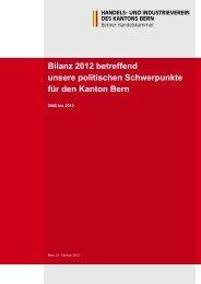 Die wirtschaftspolitische Bilanz des HIV (PDF, 186 ... - Bieler Tagblatt