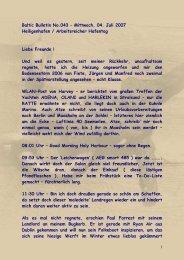 Nr. 043 - Mittwoch, 04. Juli 2007 Heiligenhafen / Arbeitsreicher