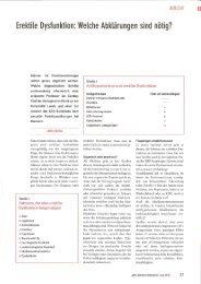 Erektile Dystunktion: Welche Abklärungen sind nötig?