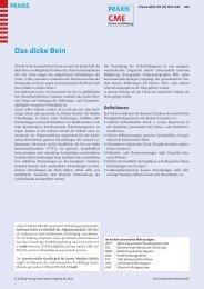 Das dicke Bein - Berner Institut für Hausarztmedizin BIHAM ...