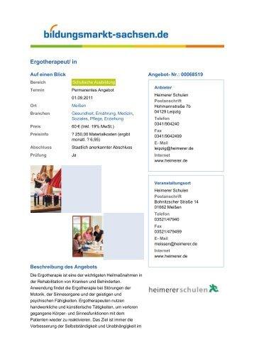 Ergotherapeut/ in - Bildungsmarkt-Sachsen.de