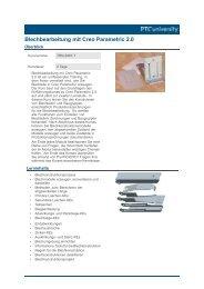 Blechbearbeitung mit Creo Parametric 2.0 - Bildungsmarkt-Sachsen ...