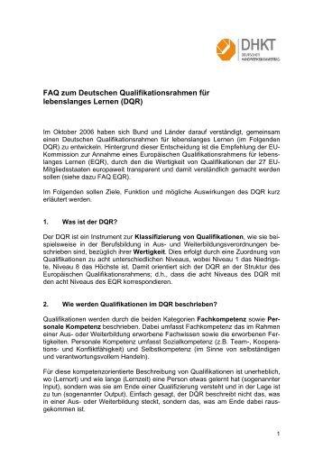 FAQ zum Deutschen Qualifikationsrahmen für lebenslanges Lernen ...