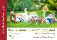 Bio-Termine in Stadt und Land - Fördergemeinschaft Ökologischer ...