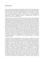 Zusammenfassung Ultraschnelle Informationsübertragung und hohe ...