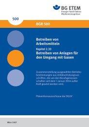 BGR 500 Kapitel 2.33 - Biogas-Infoboard