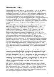 Biographiearbeit – CD Text Eine moderne ... - Walter Seyffer