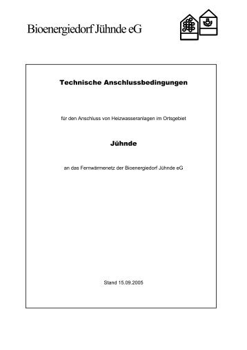 TAB Wärmeversorgung Bioenergiedorf Jühnde