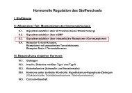 Vorlesung: Hormonelle Regulation des Stoffwechsels