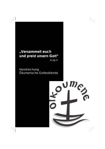 Handreichung Ökumenische Gottesdienste - Bistum Augsburg