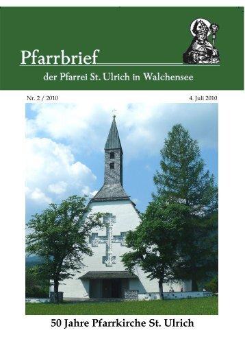 50 Jahre Pfarrkirche St. Ulrich - Bistum Augsburg