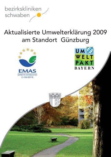 Aktualisierte Umwelterklärung 2009 - Bezirkskrankenhaus Günzburg