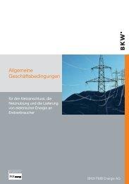 Allgemeinen Geschäftsbedingungen - BKW Energie AG