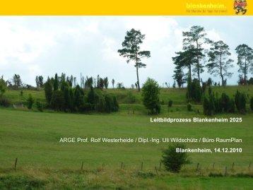 Präsentation zur Bildung der Arbeitsgruppen - Blankenheim