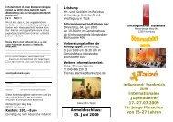 Internationalen Jugendtreffen 17.-27.07.2009 für ... - in Blankenese