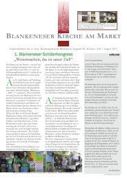 Gemeindebrief 80 - in Blankenese