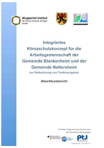 Klimaschutzziele im Energiekonzept der ... - Blankenheim
