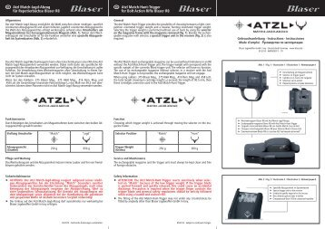 Atzl Match-Hunt-Trigger for Bolt Action Rifle Blaser R8 Atzl Match ...