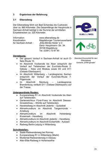29 3 Ergebnisse der Befahrung 3.1 Elberadweg ... - Blaues Band e.V.
