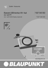 Bluetooth-/USB-Interface VW / Audi 7 607 545 550 - Blaupunkt