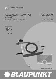 Bluetooth-/USB-Interface VW / Audi 7 607 545 550 - Blaupunkt