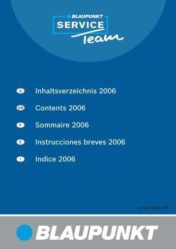 Technische Info 2006 - Blaupunkt