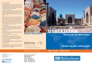 Usbekistan - die Große Seidenstraße - BLLV Reisedienst
