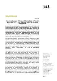Pressemitteilung - BLS