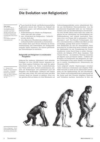 Die Evolution von Religion(en) - Michael Blume