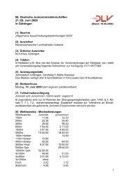 66. Deutsche Juniorenmeisterschaften 27./28. Juni 2009 in Göttingen
