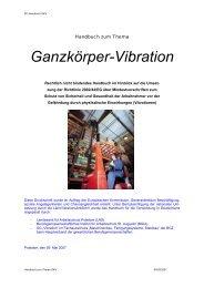 Handbuch Ganzkörper-Vibration - Bundesministerium für Arbeit und ...
