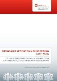 nationaler aktionsplan behinderung - Bundesministerium für Arbeit ...