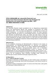 STELLUNGNAHME der Lebenshilfe Österreich zum Entwurf des ...