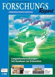 ForschungsReport 2005-2 - BMELV-Forschung
