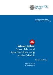 Wissen teilen - Fachdidaktisches Zentrum-Sprachlehr - Universität ...