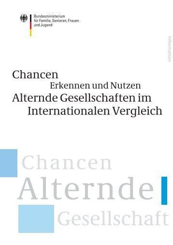 Chancen Alternde Gesellschaften im Internationalen Vergleich