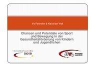 Chancen und Potentiale von Sport und Bewegung in der ...
