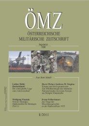 Österreichische Militärische Zeitschrift - Österreichs Bundesheer