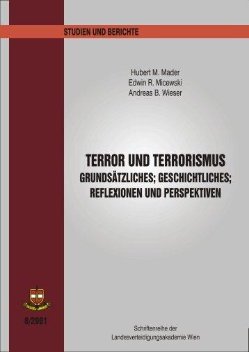 TERROR UND TERRORISMUS –