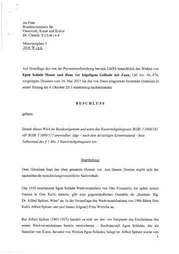 Egon Schiele, Mauer und Haus vor hügeligem Gelände mit Zaun