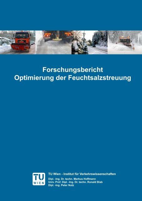 """Forschungsbericht """"Optimierung der Feuchtsalzstreuung"""" [barrierearm]"""