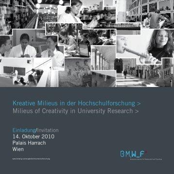 Programm - Bundesministerium für Wissenschaft und Forschung