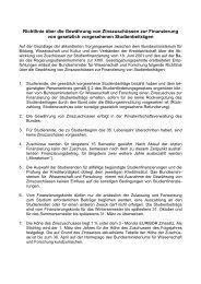 Richtlinie über die Gewährung von Zinszuschüssen zur ...