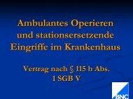 Ambulantes Operieren und stationsersetzende Eingriffe im ...