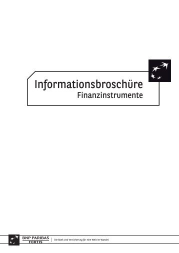 Informationsbroschüre - BNP Paribas Fortis