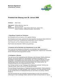 Protokoll der Sitzung vom 28. Januar 2009 - Bochum Agenda 21