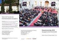 Konzertvorschau 2012 Arpeggione Kammerorchester Verein der ...
