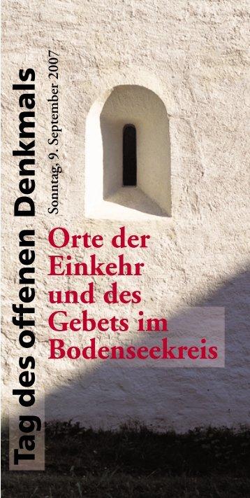 Tag des offenen Orte der Einkehr und des Gebets im Bodenseekreis