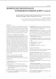 Komplexes Regionales Schmerzsyndrom (CRPS)