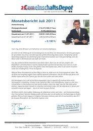 Monatsbericht Juli 2011 - Börse Aktuell